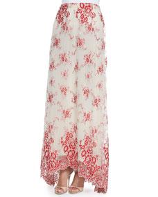 Low organza maxi skirt