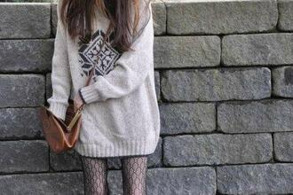 sweater blanc flocon pull