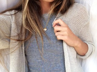 t-shirt stripes cardigan