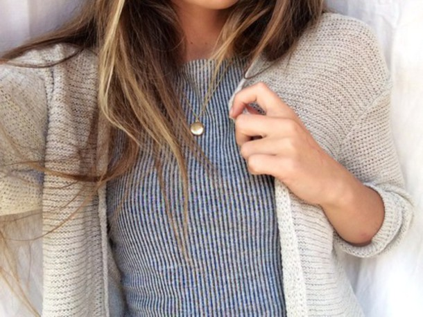t-shirt t-shirt stripes cardigan