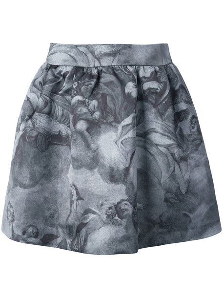 Moschino skirt women print grey