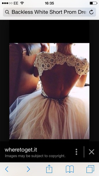dress lace backless prom dress
