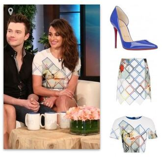 top skirt pumps lea michele shoes