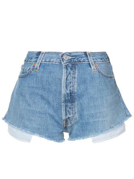 Re/Done shorts denim shorts denim women cotton blue