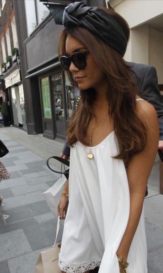dress white dress vanessa hudgens hat