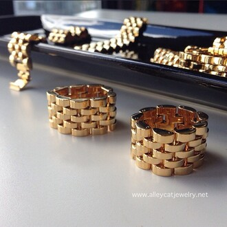 jewels gold gold ring ring link ring link gold link ring fashion fashion thick ring handmade ring handmade rings chain ring chain rings