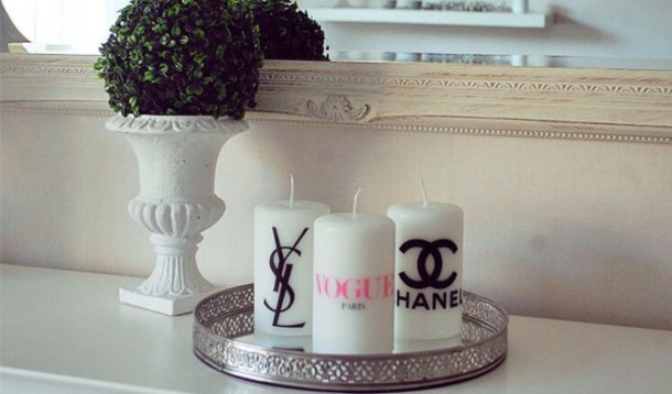 home accessory chanel candle classy