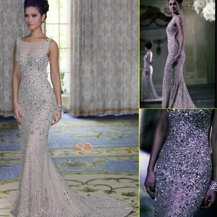 2013 Luxury Crystal See Through Beads Evening Gowns Celebrity Dresses Popular | eBay