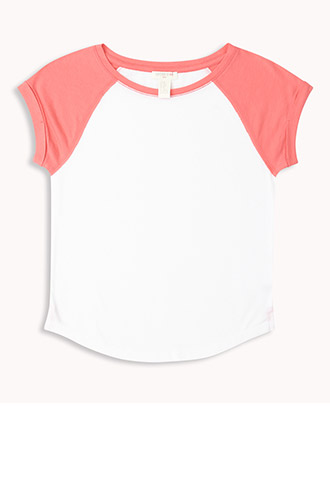 Short Sleeve Baseball Tee (Kids) | FOREVER21 girls - 2048050291