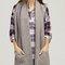 Chunky scarf with pockets - grey