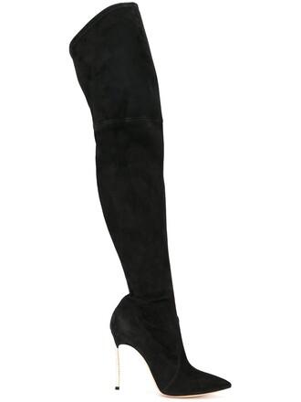 heel pearl boots heel boots black shoes