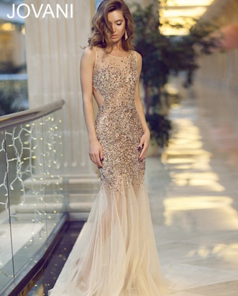 dress gorgeous jovani prom dress gold swag i need this now dress fashion style swag girl faboulous gold sequin dress beauty fashion shopping