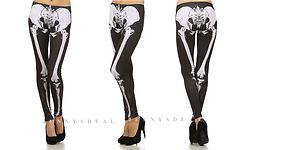 New Trendy Popular x Ray Skeleton Leg Bone Leggings Slim Pants Tights s M L | eBay