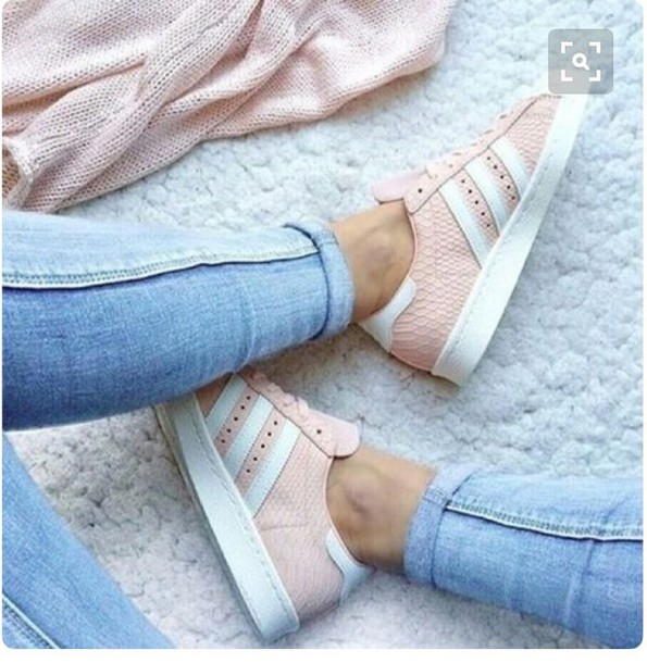 newest 1cd80 79889 shoes adidas superstars white pink snake texture