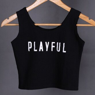 top summer black crop tops playful fashion style cropped teenagers trendsgal.com