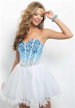 Blush 9677 dress | Dresses | Short homecoming dress | NetFashionAvenue