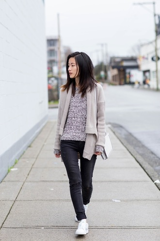 von vogue blogger knitted cardigan