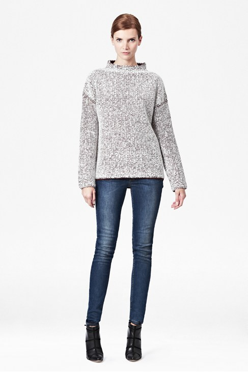 Sophie Knitted High Neck Jumper  - Sweaters - French Connection Usa