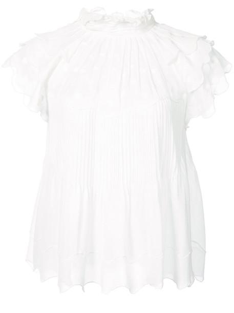 Ulla Johnson top women white silk