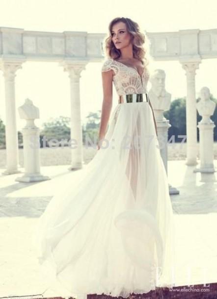 dress wedding dress sexy evening dress pearls dress julie wedding dresses designer