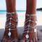 Grace bijoux nishka foot piece silver