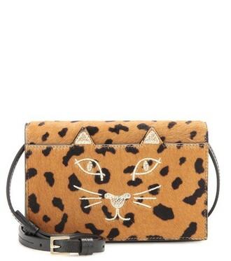 hair purse brown bag