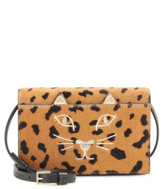 charlotte olympia hair purse brown bag