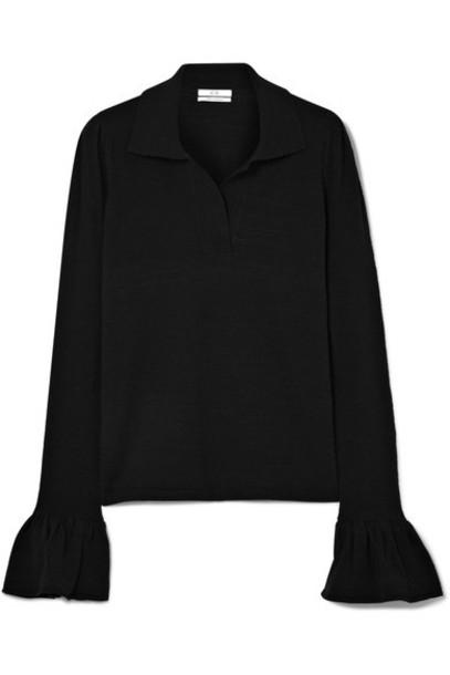 CO top black silk