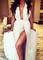 Halter split maxi party dress