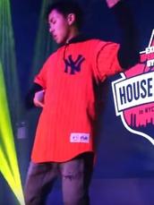 shirt,new york city,baseball jersey,orange with stripes,buttons,baseball,orange,sportswear