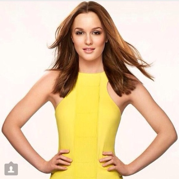 blair waldorf dress prom dress leighton meester gossip girl homecoming dress yellow dress