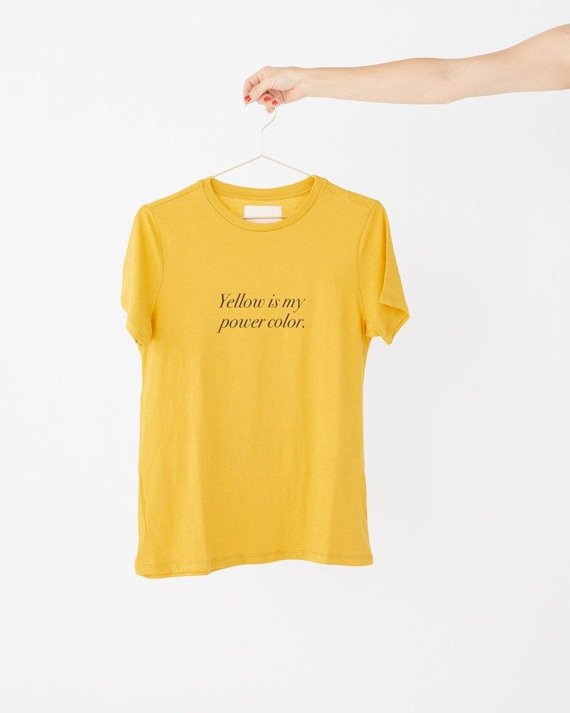 Yellow Is My Power Color Tee