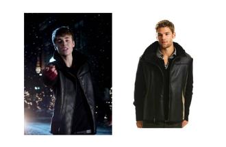 black jacket justin bieber leather jacket