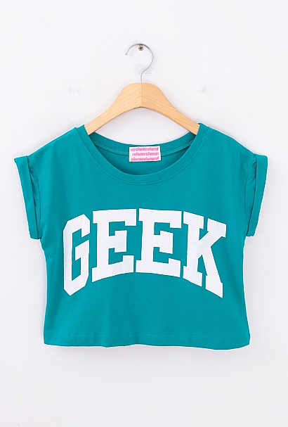 Geek crop top from  charismatic  on storenvy