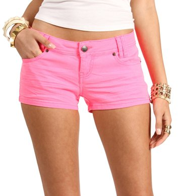 Neon Pink Shorts on Wanelo