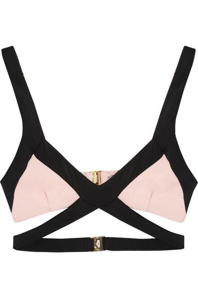 Agent Provocateur|Mazzy cutout triangle bikini top|NET-A-PORTER.COM