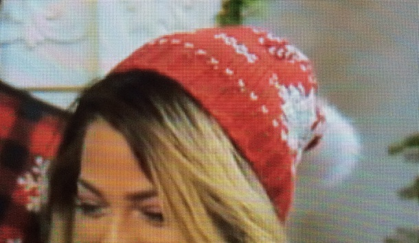hat christmas beanie red white