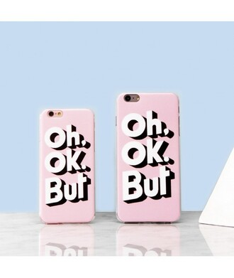 phone cover pink iphone case quote on it fashion style trendy cool teenagers it girl shop pink phone case