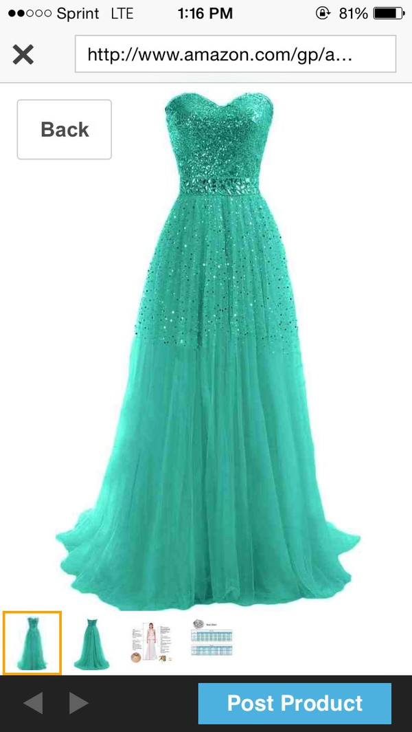 prom long glitter sequence dress
