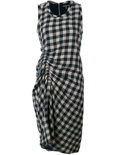 James Perse dress women cotton blue wool
