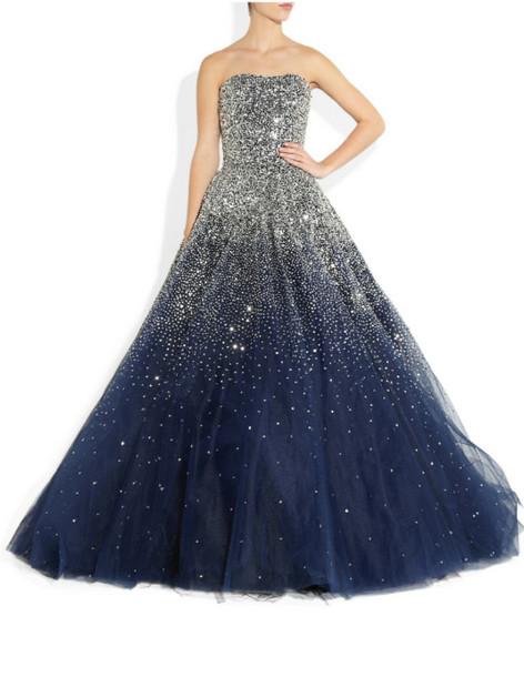 dress prom dress blue dress sparkly dress homecoming glitter navy evening dress