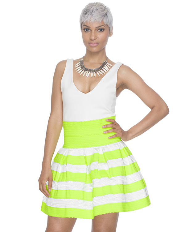 ELLE Pleated Bandage Skater Skirt – FLYJANE