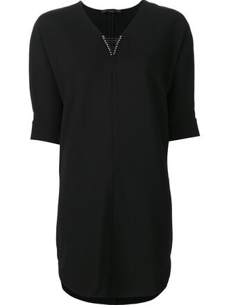 dress tunic dress metal women black