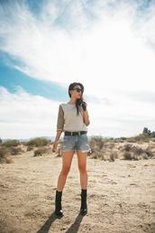 neon blush,sweater,shorts,belt,shoes