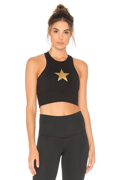 strut-this bra sports bra stars black underwear