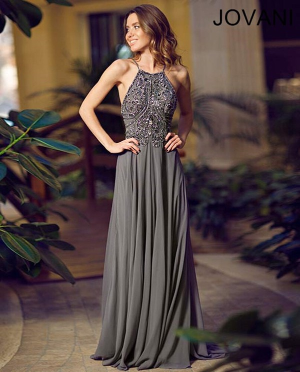 grey dress, jovani prom dress, jovani dress, jovani gown, prom dress ...