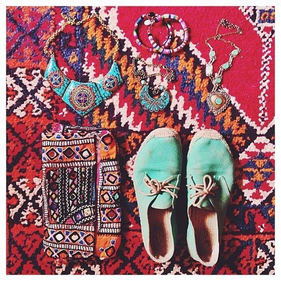 shoes planet blue mint boho accessories