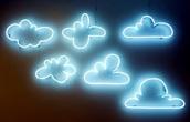 home accessory,light,neon light,kids room,clouds,dorm room