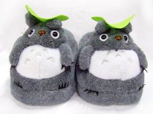 Amazon.com: Totoro: Soft Gray Totoro Plush Slippers: Home & Kitchen