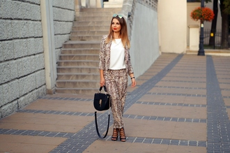 a piece of anna blogger jacket pants jewels bag shoes blouse